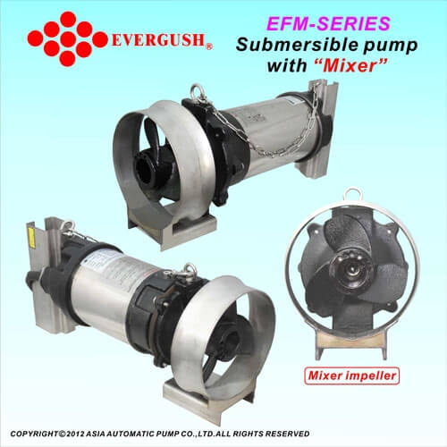 EFM-Series Submersible Mixer Pumps - Water Treatment